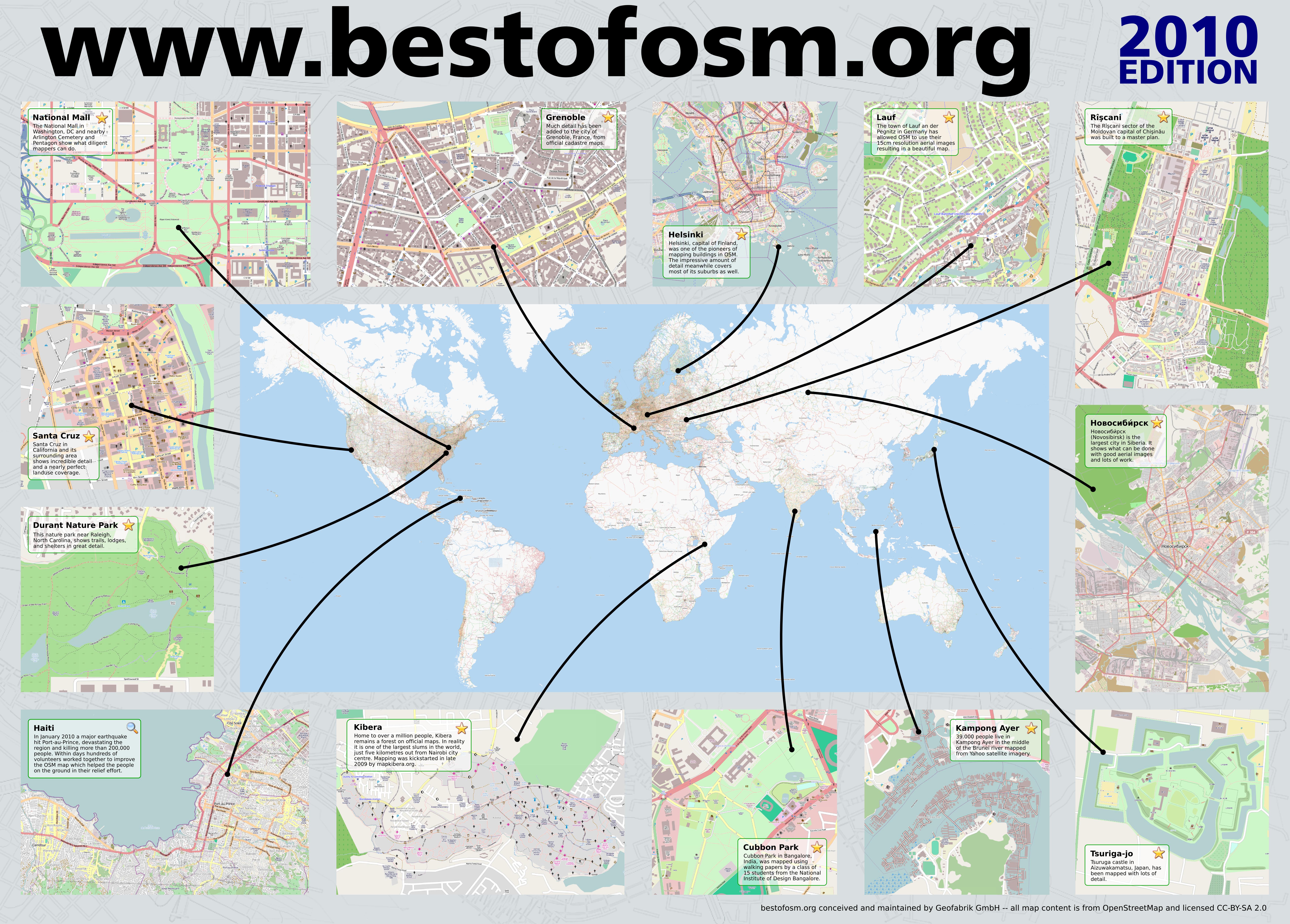 Best of OpenStreetMap Poster