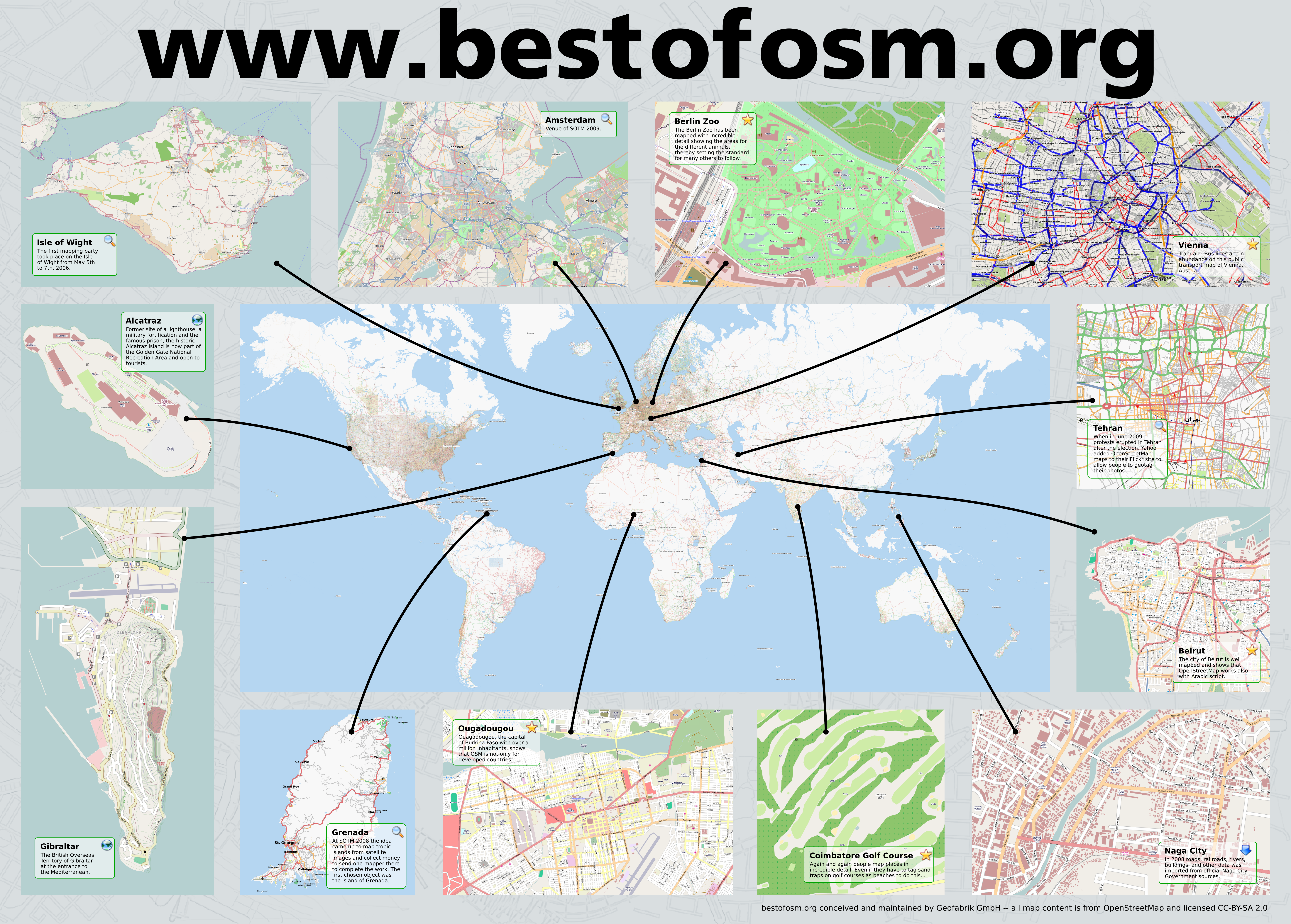 Best of OpenStreetMap Poster
